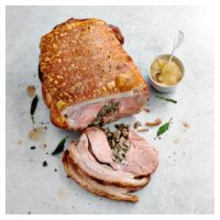 Pork Hog Roast with Sage & Onion Stuffing and Apple Sauce
