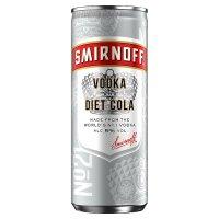 Smirnoff & Diet Cola Vodka Mixed Drink