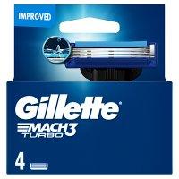 Gillette Mach 3 Turbo Manual Blades 4 countGillette Mach 3 Turbo Manual Razor Blades 4 count