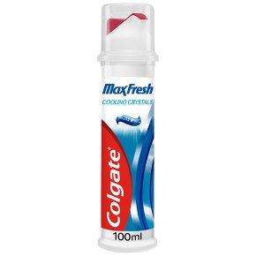 Colgate Max Fresh with cooling crystals toothpaste, pump