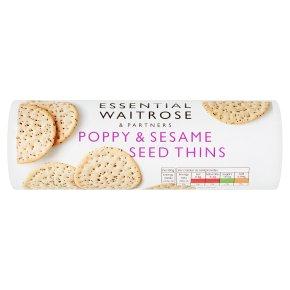 essential Waitrose poppy & sesame seed thins