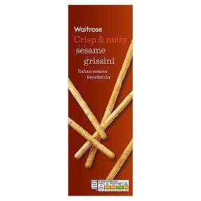 Waitrose sesame seed grissini breadsticks