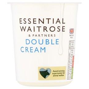 essential Waitrose double cream