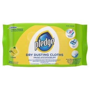 Pledge dusting cloths citrus
