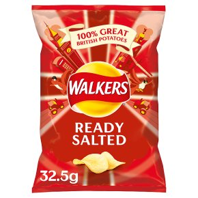 Walkers ready salted plain single crisps