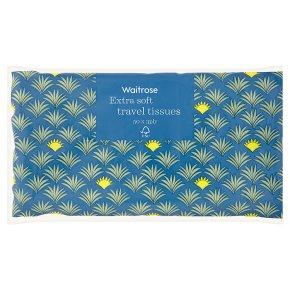 Waitrose travel tissues soft white