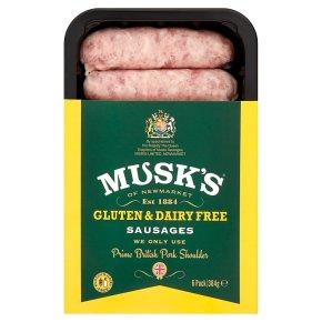 Musk's 6 Gluten Free pork sausages