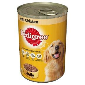 Pedigree chunks in jelly chicken