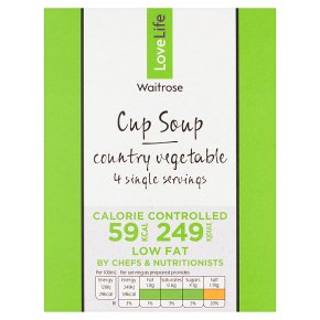 LOVE life 59 calories cup soup country vegetable
