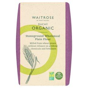 Waitrose Duchy Organic stoneground plain wholemeal flour