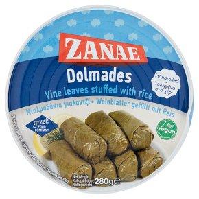 Zanae vine leaves stuffed with rice