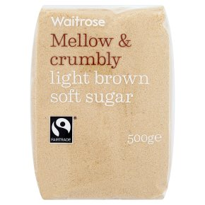 Waitrose light brown soft sugar