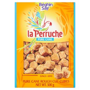 La Perruche Pure Cane Rough Cut Cubes Brown