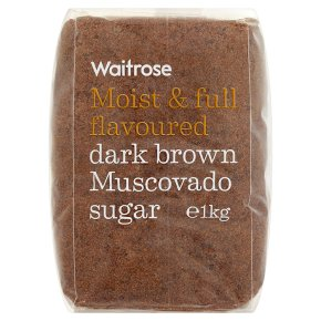 Waitrose dark brown muscovado sugar