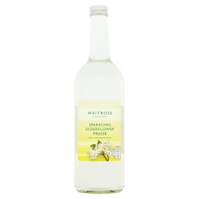 Waitrose elderflower sparkling spring water