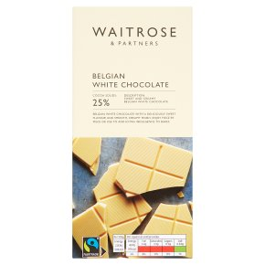 Waitrose Belgian chocolate white