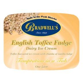 Bradwell's English toffee fudge dairy ice cream