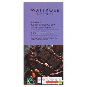 Waitrose Belgian chocolate plain fruit & nut