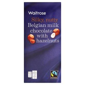 Waitrose Belgian whole nut milk chocolate