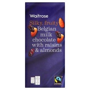 Waitrose Belgian fruit & nut milk chocolate