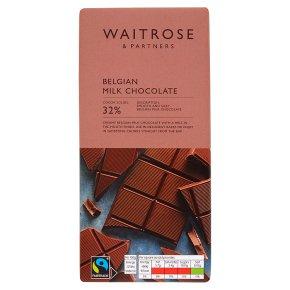 Waitrose Belgian chocolate milk