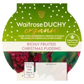 Waitrose Duchy Organic Richly Fruited Christmas Pudding