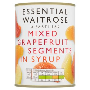 Essential Waitrose Mixed Grapefruit Segments (in light syrup)