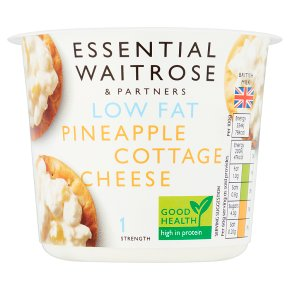 essential Waitrose low fat pineapple cottage cheese