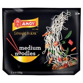 Amoy straight to wok medium noodles