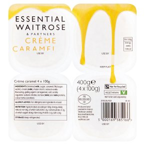 essential Waitrose creme caramel