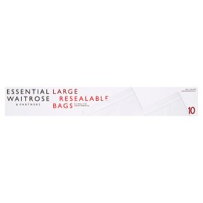 essential Waitrose large reclosable bags
