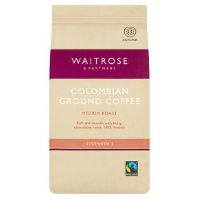 Waitrose cafetière Colombian coffee