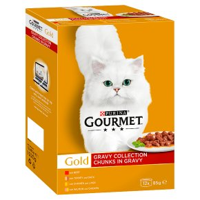 Gourmet Gold Cat Food Mixed Chunks in Gravy