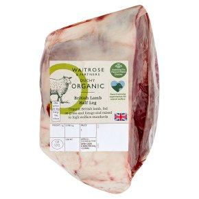 Waitrose Duchy Organic British Lamb Half Leg