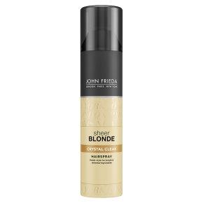 Sheer blonde crystal hold spray