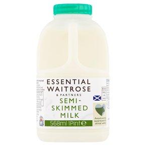 essential Waitrose semi skimmed 1.7% fat milk