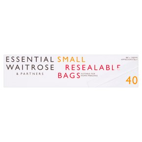 essential Waitrose small reclosable bags, roll of 40