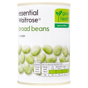 essential Waitrose canned broad beans in water