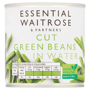 essential Waitrose canned cut green beans in water