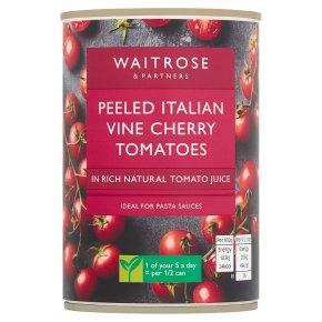 Waitrose Peeled Italian Cherry Tomatoes