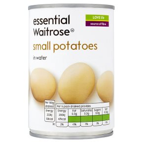 essential Waitrose canned small potatoes in water