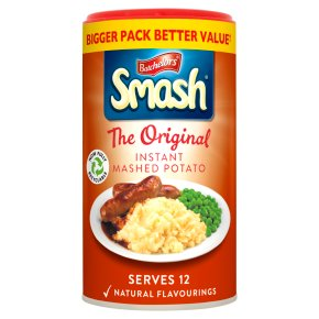 Smash instant mash potato