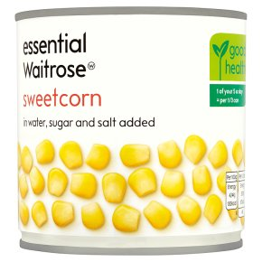 essential Waitrose canned sweetcorn sugar & salt added
