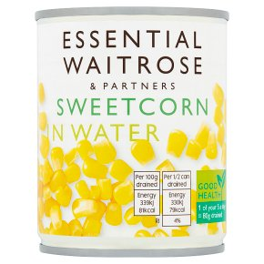 essential Waitrose canned sweetcorn crisp & naturally sweet