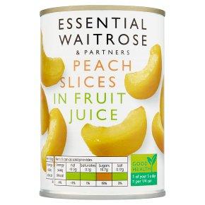 Essential Waitrose Peach Slices (in fruit juice)