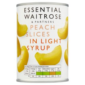 Essential Waitrose Peach Slices (in light syrup)