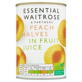 Essential Waitrose Peach Halves (in fruit juice)