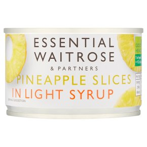 essential Waitrose pineapple slices in light syrup