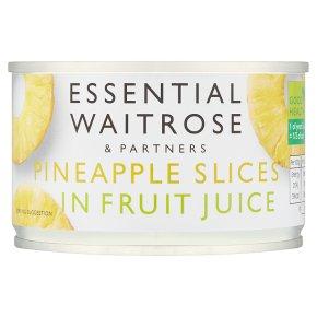 Essential Waitrose Pineapple Slices (in fruit juice)