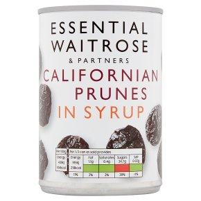 essential Waitrose prunes in Syrup
